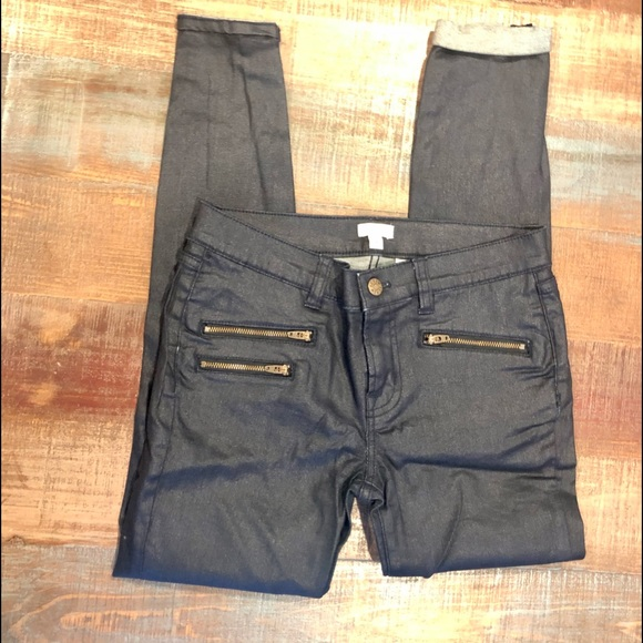 J Crew Coated Denim Jeans NWOT